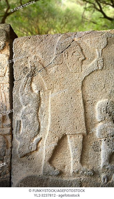 Pictures & images of the South Gate Hittite sculpture stele depicting Hittite Gods. 8th century BC. Karatepe Aslantas Open-Air Museum (Karatepe-AslantaŠŸ Açık...