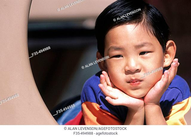 Young Asian Boy at the Park