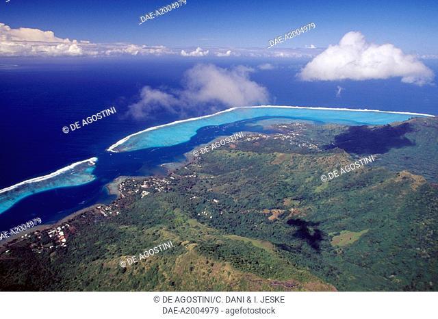Mo'orea, aerial view, Society islands, French Polynesia