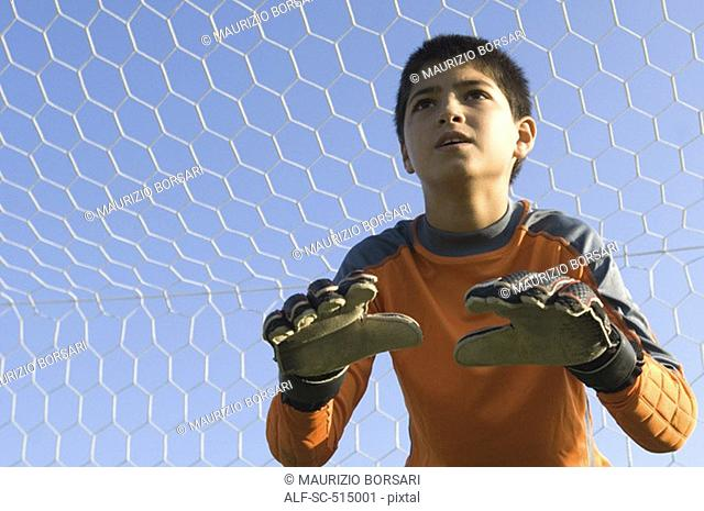 Young goalkeeper