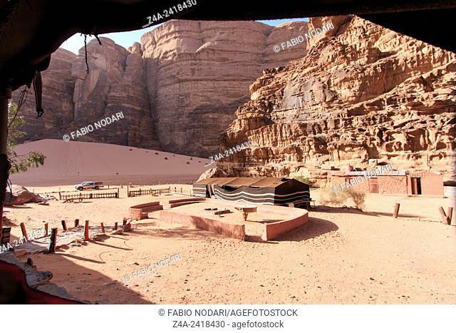 Bedouin camp in the Wadi Rum desert, Jordan