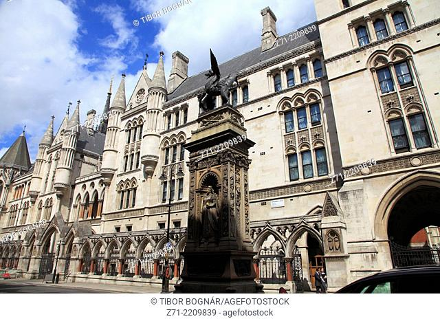 UK, England, London, City, Temple Bar, Royal Courts of Justice,