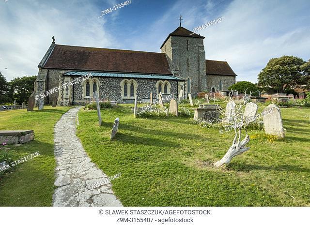 St Margaret's church in Rottingdean village, East Sussex, England