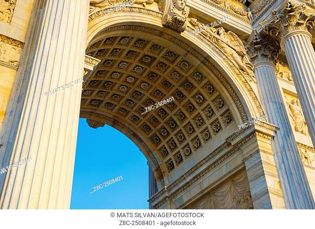 Peace arch in Milan, Italy