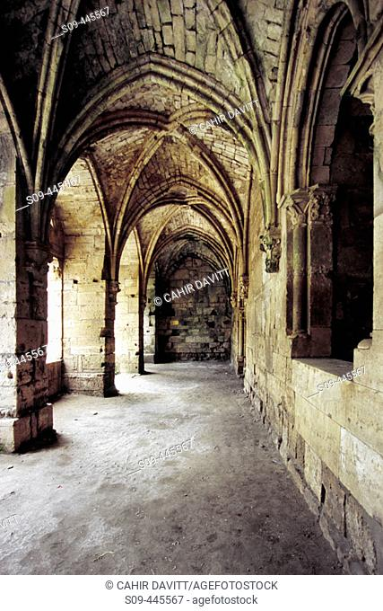 Arcade within the walls and inner defenses of the Krak des Chevaliers. Syria