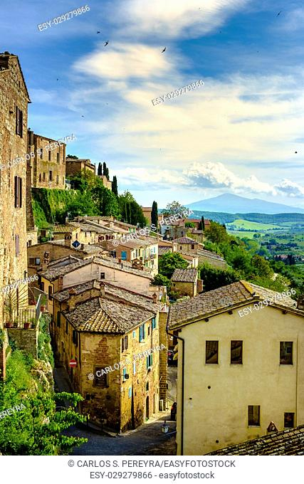 rooftops in Montepulciano, Tuscany, Italy Europe