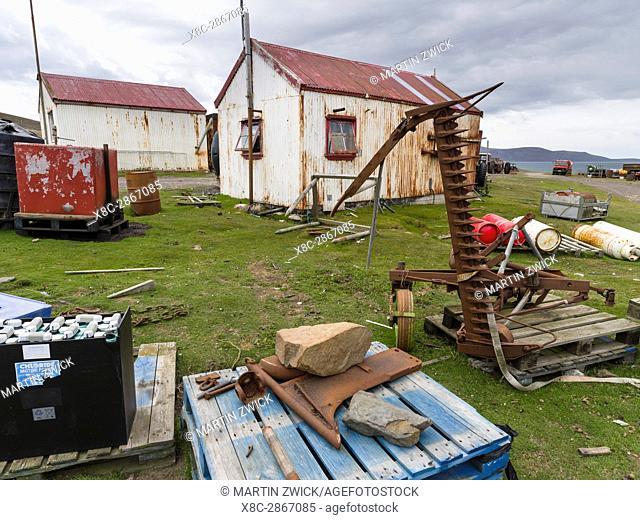 Saunders Island Settlement. South America, FAlkland Islands, January