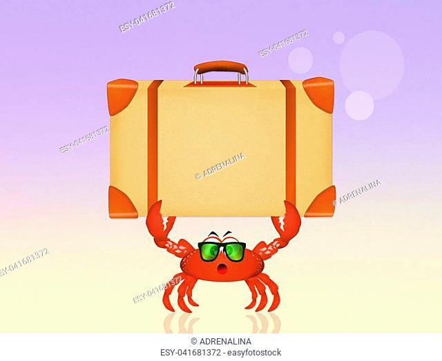illustration of crab on holidays