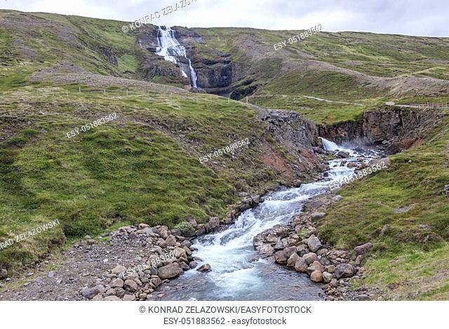Rjukandi Waterfall in eastern Iceland