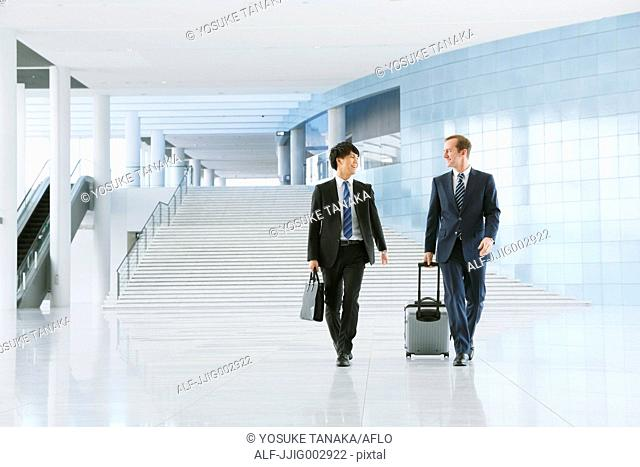 Businessmen at the airport