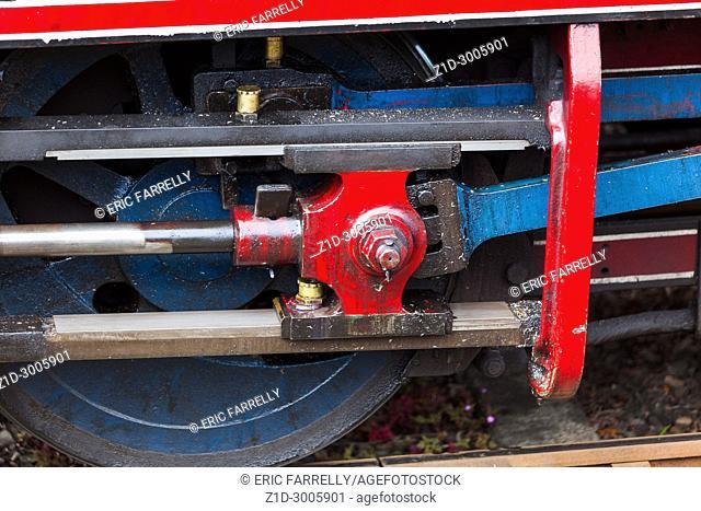 steam engine Caledonian railways Montrose Scotland