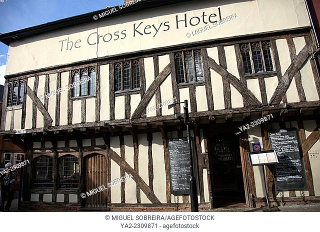 Cross Keys Hotel and Restaurant on High Street in Saffron Walden in Essex