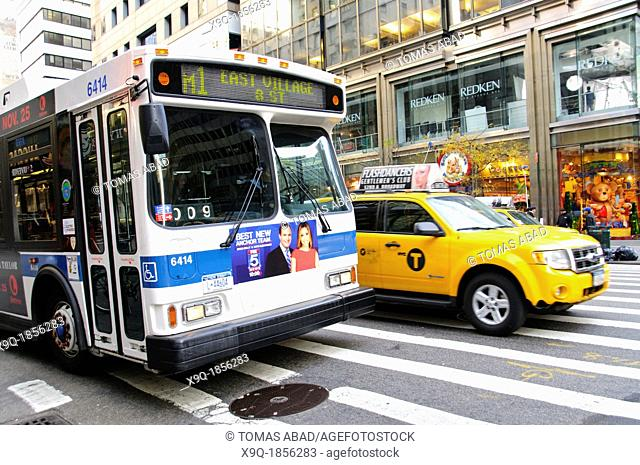 New York City Public Transportation M1 Bus, Manhattan, New York City, USA