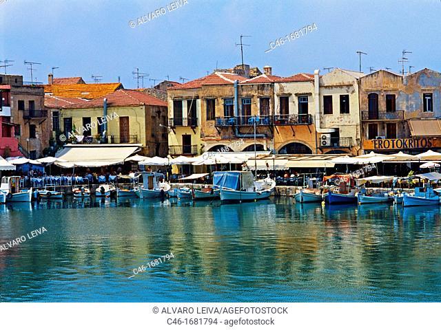 The Venetian harbour,Hania, Crete  Greece