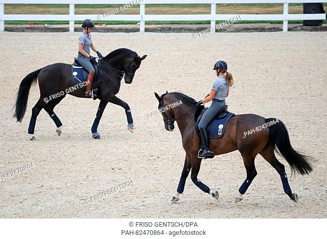 Kristina Broring Sprehe On Desperados And Dorothee Schneider R Of Germany On Showtime Ride Their Stock Photo Picture And Rights Managed Image Pic Pah 82470864 Agefotostock