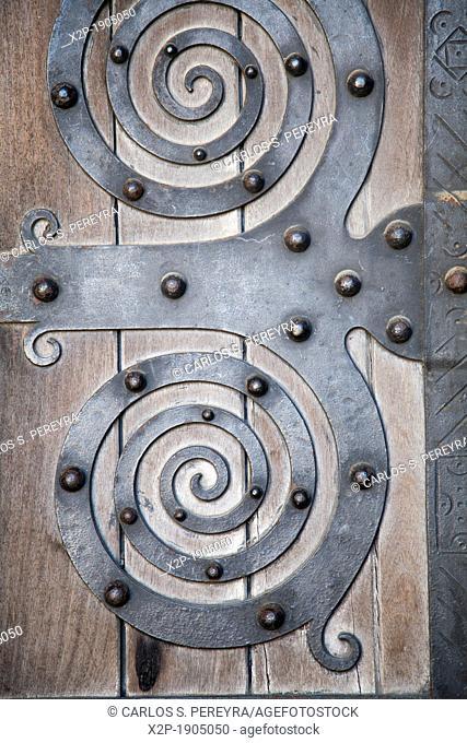 Door detail in Alfama, Lisbon, Portugal