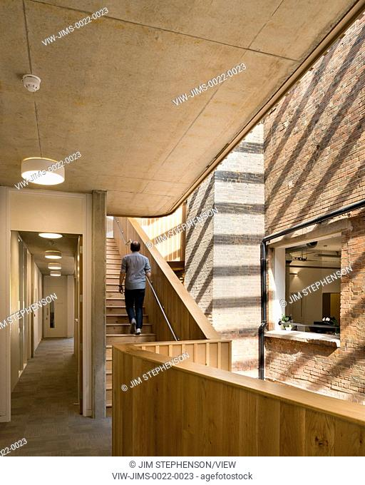 Interior view of stairs. The Foundry, Social Justice Centre, London, United Kingdom. Architect: Architecture00, 2015