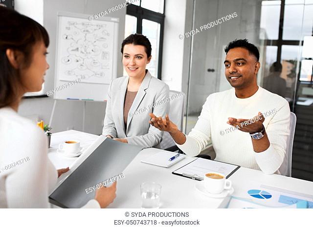 recruiters having job interview with employee