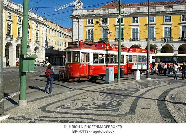 Praca do Comercio, square in Lisbon, Portugal, Europe