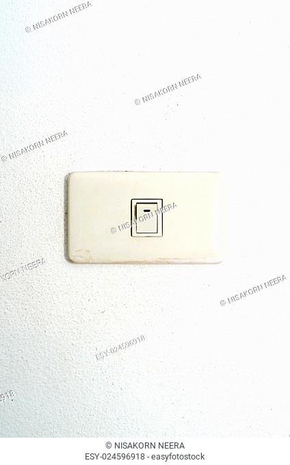 electric white switch on wall