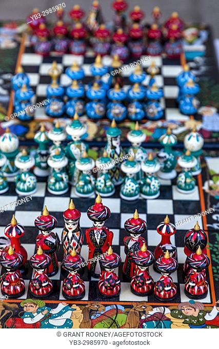Souvenir Chess Set For Sale, Bukhara, Uzbekistan