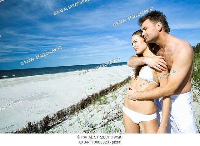 couple in love on beach