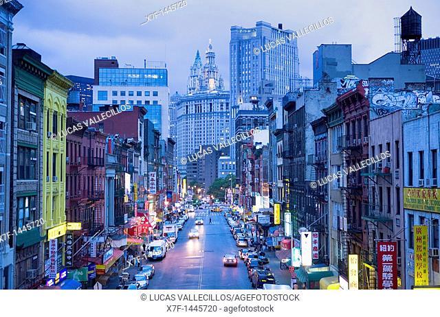China town  East Broadway,New York City, USA