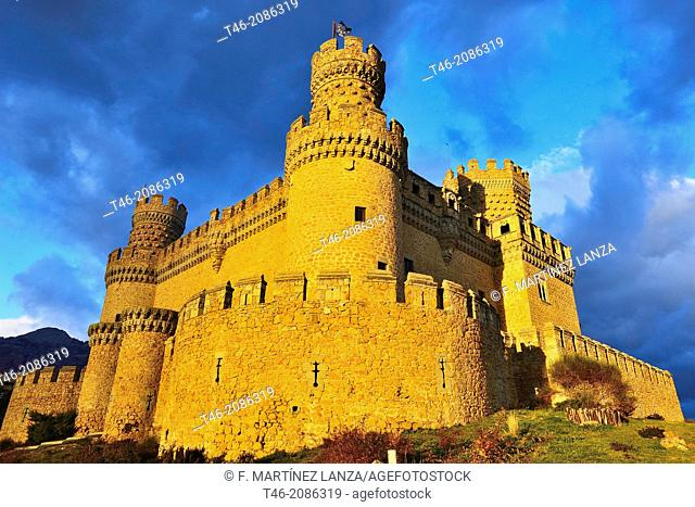 New Castle of Manzanares el Real, also known as Castle of the Mendoza, is a palace-fortress erected in the fifteenth century in the town of Manzanares el Real