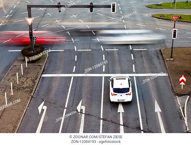 Verkehrsknotenpunkt Alter Markt, Wuppertal, Bergisches Land, Nordrhein-Westfalen, Deutschland, Europa