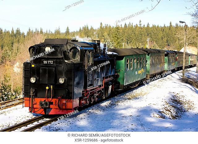 steam train, Oberwiesenthal - Cranzhal, Germany