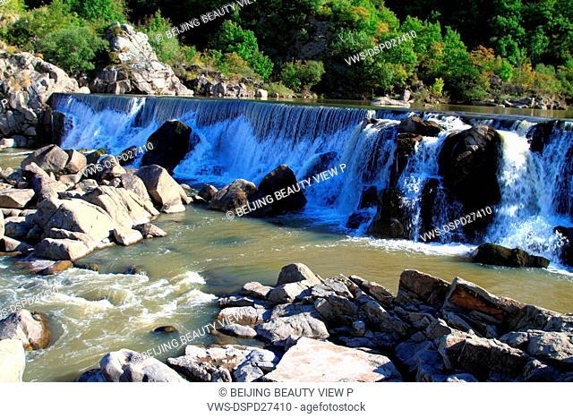 Chingpo Lake waterfall in Mudanjiang,Heilongjiang province,China