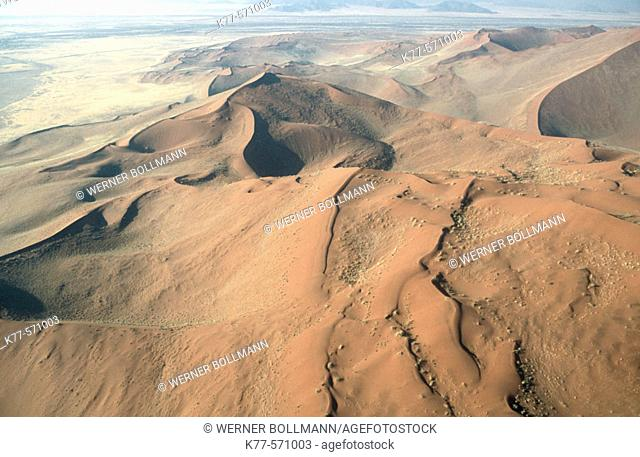 Dunes in the Namib Desert. Namibia