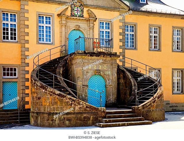 old cityhall of Ruethen, Germany, North Rhine-Westphalia, Sauerland, Ruethen