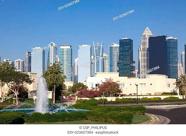 Fountain at the Jumeirah Lakes Towers, Dubai, United Arab Emirates