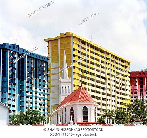 Church of Our Lady of Lourdes in Singapore in Southeast Asia Far East