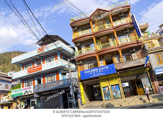 Typical Architecture, City View, Pokhara, Nepal, Asia