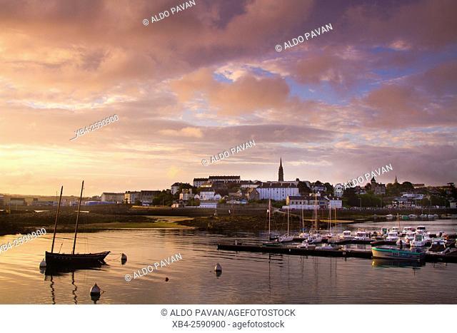 Port at sunset, Douarnenez, Brittany, France