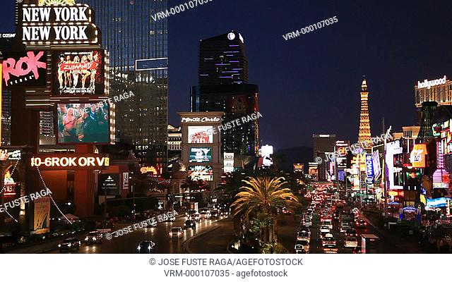 USA-Nevada-Las Vegas City-The Strip Avenue