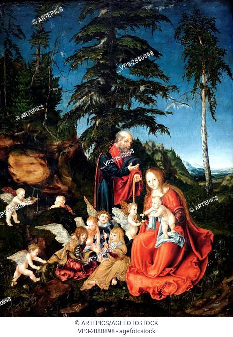 Lucas Cranach - The Rest on the Flight to Egypt - 1504 - XVI th Century - German School - Gemäldegalerie - Berlin