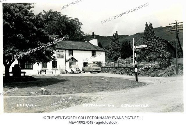 Britannia Inn, Langdale Valley, Elterwater, near Ambleside, Cumbria, England