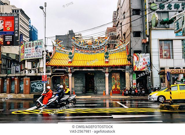 Keelung, Taiwan - Street view of Keelung city in the daytime