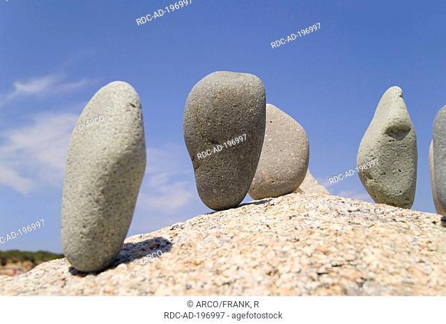 Granite rock, coast of Vignola Mare, Gallura, Sardinia, Italy, balance