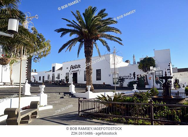 Central square in the little city of Teguise, Lanzarote, Canary Islands, Spain