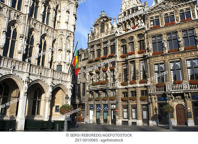 Brussels Town Hall, (Hotel de Ville or Hôtel de Ville de Bruxelles), Grote Markt (Grand Place), Brussels, Belgium