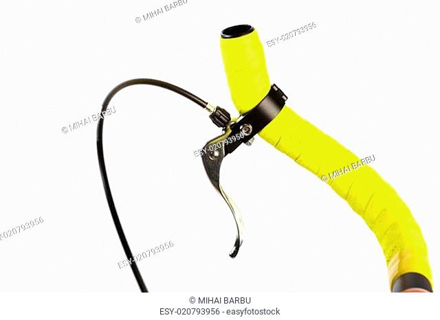 Yellow bicycle handlebar