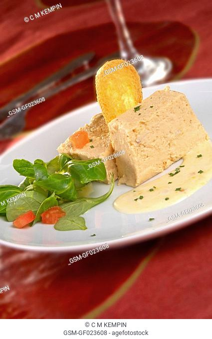 Fish pudding with orange mayonnaise