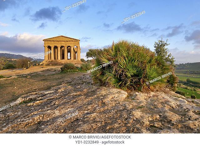 Temple of Concordia (Tempio della Concordia). Valle dei Templi (Valley of the Temples). Agrigento Sicily Italy