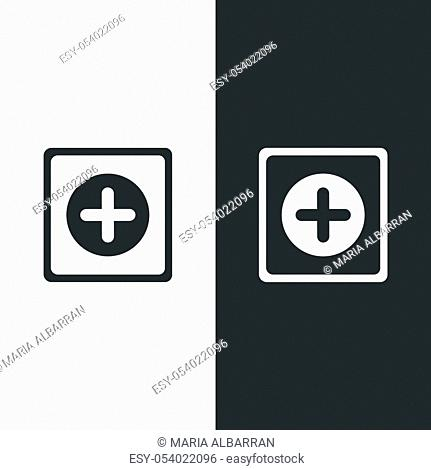 Pharmacy sign. Flat cross icon. Isolated image. Vector illustration