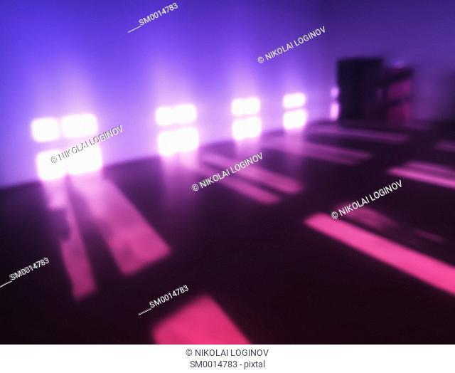 Pink windows light leak bokeh background hd