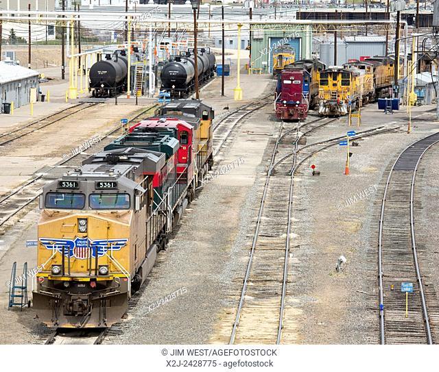 Denver, Colorado - The Union Pacific Denver North Rail Yard